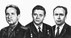 Georgi Dobrowolski, Wladislaw Wolkow, Wiktor Pazajew