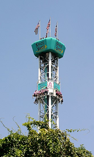 Adventureland (Iowa) - The top of the Space Shot
