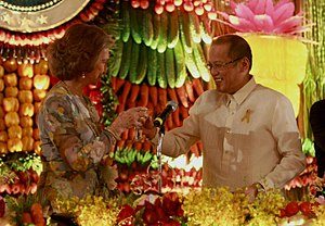 Philippines–Spain relations - Visit of Queen Sofía of Spain to Malacañang Palace, with Philippine President Benigno Aquino III