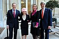 Spokesperson Psaki Poses in a New Hat With Russian Counterpart and Their Respective Bosses (11930586556).jpg