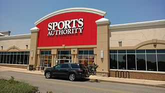 Sports Authority - Another Sports Authority Store, this one in former Borders of Flemington, New Jersey, as seen on May 28, 2016. This location also has signs announcing the store's impending closure. It is currently Halloween City then ALDI