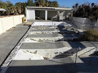 Zzyzx, California - Old spas at Zzyzx