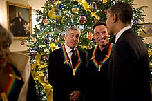 De Niro, Bruce Springsteen and President Barack Obama