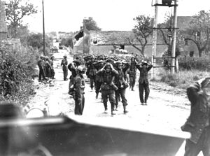 Operation Tractable - German forces surrendering in St. Lambert-sur-Dives on 21 August 1944