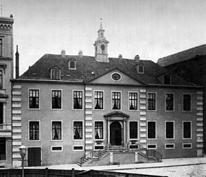 Domshof - St. Peter's Orphanage on the Domshof c.1890, demolished 1902