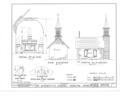 St. Anthony's Chapel, Old Mission Vicinity, Festina, Winneshiek County, IA HABS IOWA,96-FESTI.V,1- (sheet 2 of 2).png