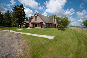 Jessie, North Dakota - St. Lawrence Church in Jessie