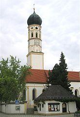 The church of St. Stephanus at Hohenbrunn