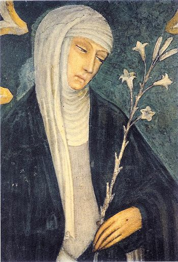 Saint Catherine of Siena. Fresco in church of ...