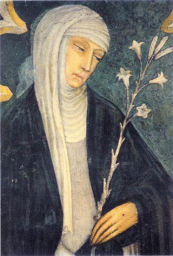 Saint Catherine of Siena. Fresco in church of ...