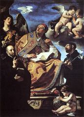 Saint Gregory the Great with Jesuit Saints