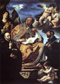 St Gregory the Great with Sts Ignatius and Francis Xavier by Guercino, 1626.PNG