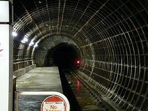 St James Metro station - Image: St James Metro station overrun tunnel