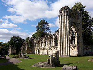 St Mary's Abbey, York - Ruins of St Mary's Abbey Church