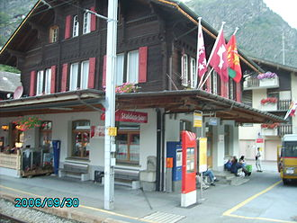Stalden - Train and bus station in Stalden