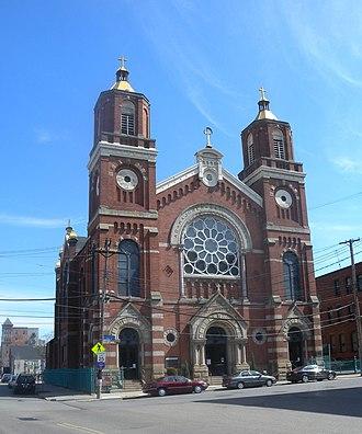 St. Stanislaus Kostka Church (Pittsburgh) - Image: Stanislaus Kostka noon jeh