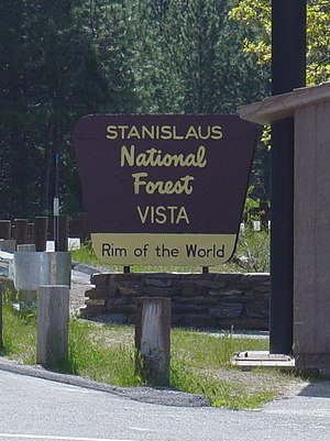 Rim Fire - The Rim Fire of 2013 was named after the Stanislaus National Forest's Rim of the World vista point.