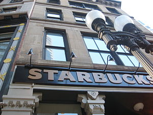 Starbucks in the Financial District near South...