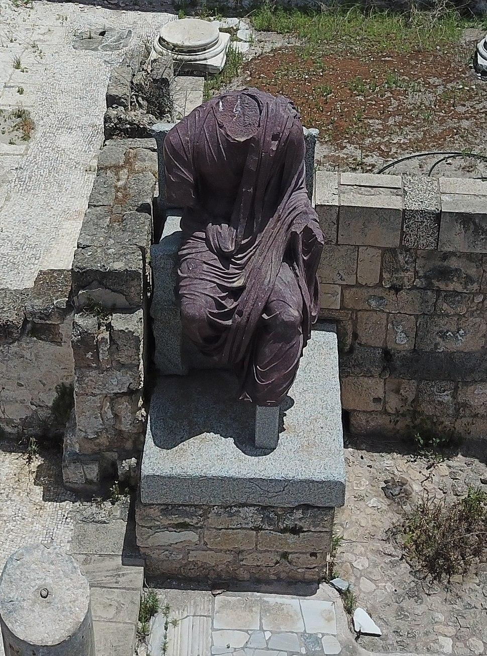 Statue of Caesar Hadrian from Caesarea