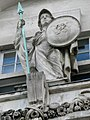 Statue of Minerva or Athena, Minerva House, North Crescent, Chenies Street, London WC1.jpg
