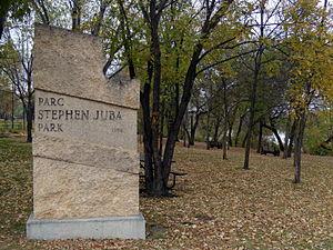 Stephen Juba Park - Stephen Juba Park in Winnipeg's Waterfront District