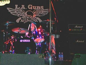 Steve Riley (drummer) - Steve Riley performing with L.A. Guns in 2008.