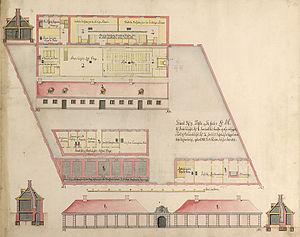 Copenhagen Stocks House - Image: Stokhuset Copenhagen SC Gedde 1754