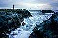Stokksnes lighthouse and the raging ocean (16468751932).jpg