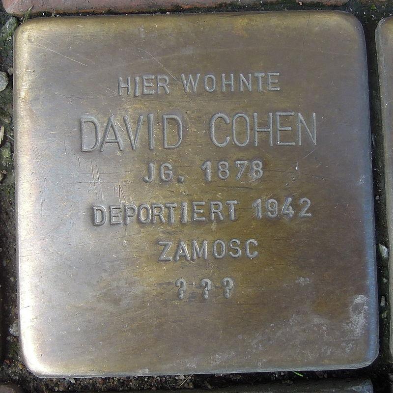 Stolperstein für David Cohen