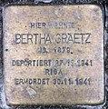 Stolperstein Bayerische Str 5 (Wilmd) Bertha Graetz.jpg