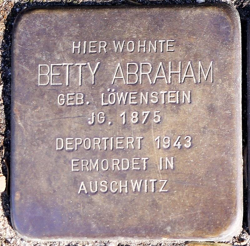 Stolperstein Betty Abraham.jpg