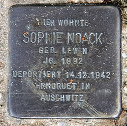 Photo of Sophie Noack brass plaque
