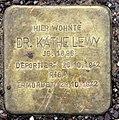 Stolperstein Hanseatenweg 10 (Hansa) Käthe Lewy.jpg