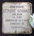 Stolperstein Helmstedter Str 19 (Wilmd) Leonore Schwarz.jpg