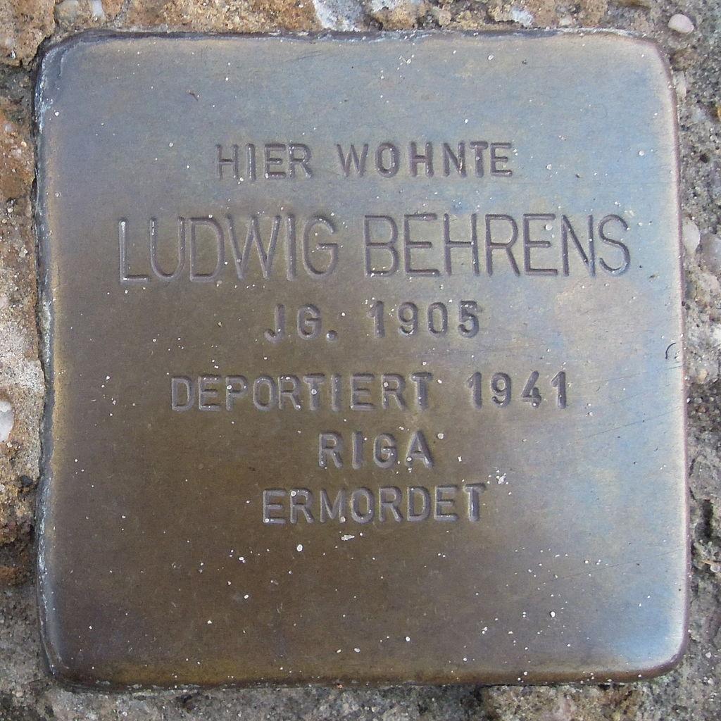 Stolperstein Hoya Lange Straße 87 Ludwig Behrens