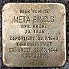 Stolperstein Peter-Hille-Str 17 (Frihg) Meta Pincus.jpg
