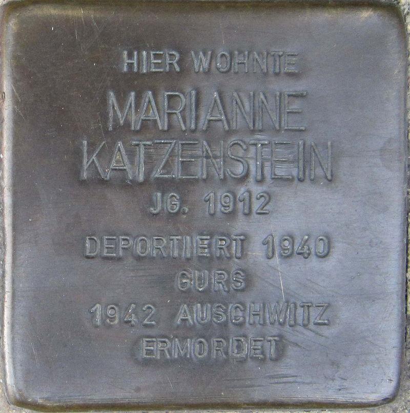 Stolperstein Pforzheim Katzenstein Marianne.jpeg