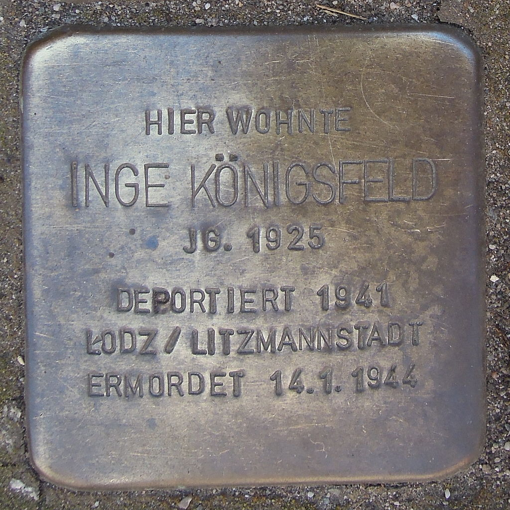 Stolperstein Saarburg Graf-Siegfried-Straße 20 Inge Königsfeld.JPG