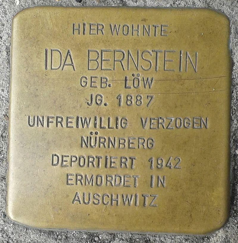 Stolperstein Selters Bahnhofstraße 8 Ida Bernstein