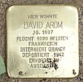 Stolpersteine David Arom, Düsseldorf, Wallstraße 3, 2018.jpg