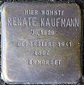 Stolpersteine Köln, Renate Kaufmann (Nußbaumerstraße 7).jpg