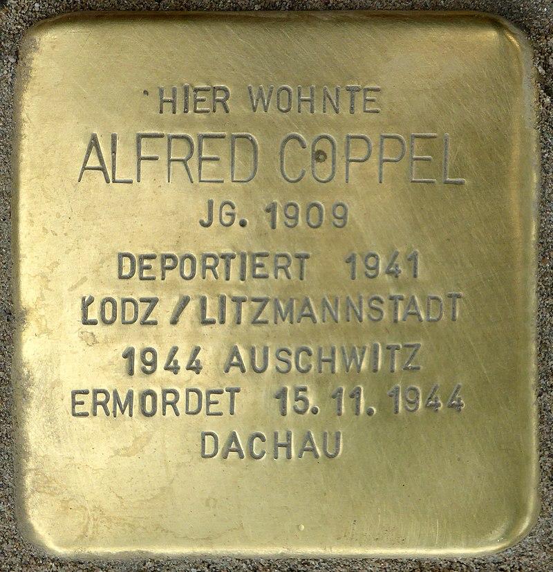 Stolperstein für Alfred Coppel (Bahnhofstraße 48)