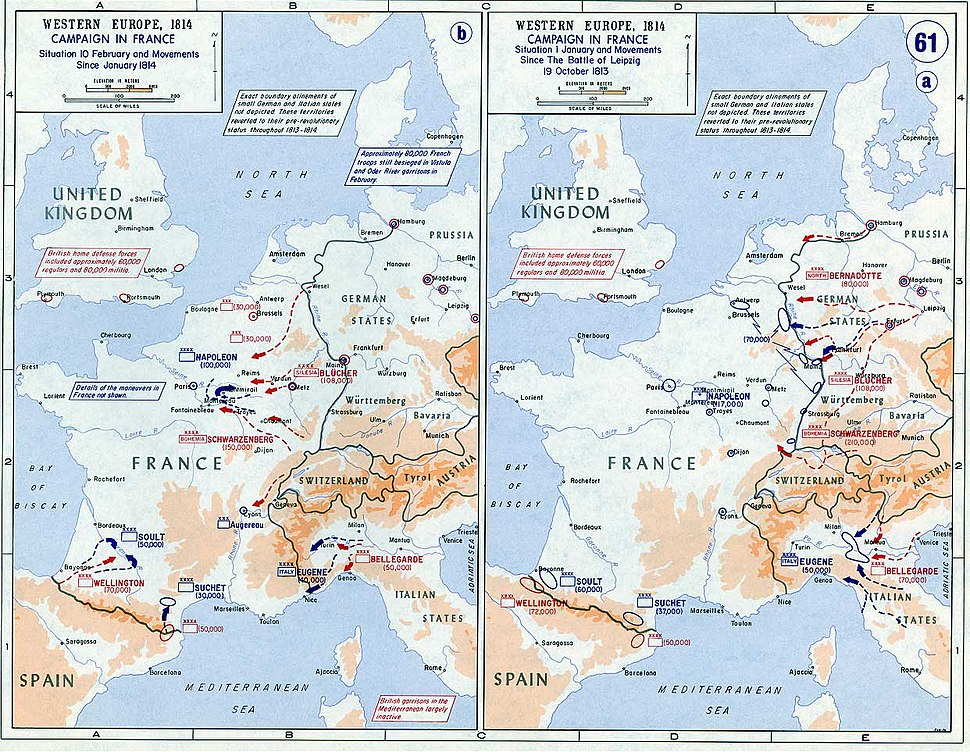 Strategic Situation of Western Europe 1814
