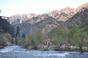 Nuristan Province - A river in Nuristan province