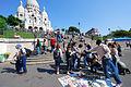 Street vendors at Sacre Coeur 2007.jpg