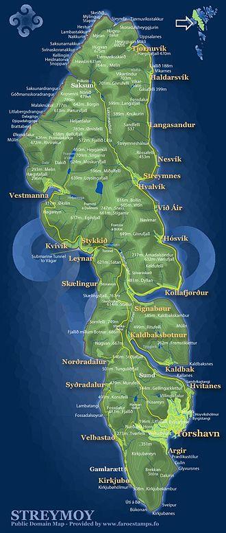 Streymoy - Map of Streymoy