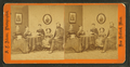Studio portrait of family, stereo-viewer on table, one girl with book, by Adams, S. F., 1844-1876.png