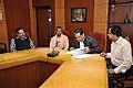 Subhabrata Chaudhuri - Gour Gopal Das Brahmachary - Chandrakant Das - Sasti Ghosal - MoU Exchange - Gaudiya Mission and NCSM - Kolkata 2014-12-17 1338.JPG
