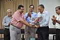 Subhabrata Chaudhuri Presents Flower Bouquet To Ganga Singh Rautela - NCSM - Kolkata 2016-02-29 1363.JPG