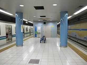 Shin-Nagata Station - Kaigan Line platform